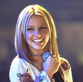 Britney with a cute smile.