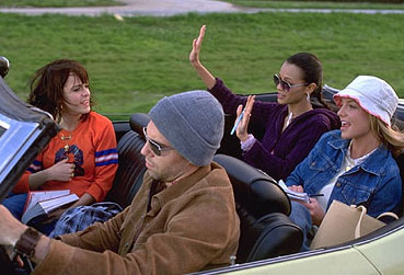 Crossroads gang in the convertible